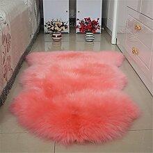 Quibine Echter Schaffell-Teppich mit Dicke Wolle Genuine Sheepskin Rug Sheepskin Carpet Für Ihr Sofa Auto Sofa, Ca.75x100cm, Farbe 4