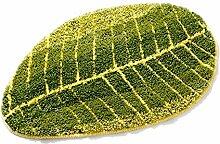 Quibine Grün Blatt Form Entwurfs Wolldecke Fußmatten Küche Läufer Wolldecke Maschinenwaschbar rutschfest Rug, Ca. 40x60cm