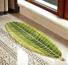 Quibine Grün Blatt Form Entwurfs Wolldecke