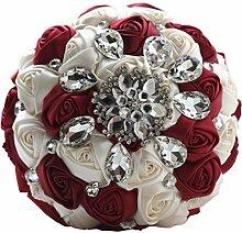 Quibine handgemachter Diamant Strass Braut Blumen