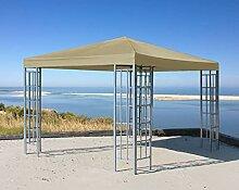 QUICK STAR Rank Pavillon 3x3m Metall Beige