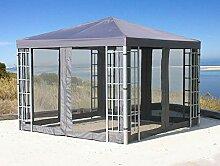 QUICK STAR Rank Pavillon Set 3x3m Metall Garten