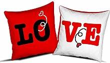 quickgadget Geschenkidee Kissen Paare LO-VE Liebe