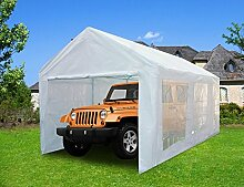 Quictent Pavillon 3 x 6 m weiß Tragbare Garage Carport Party Pavillon