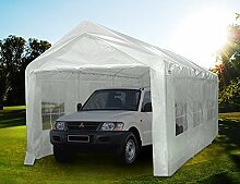 Quictent Pavillon 3 x 6 m weiß Tragbare Garage Carport Party Zel
