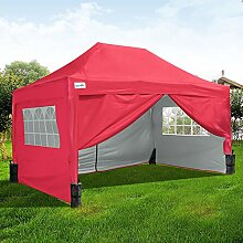 Quictent Pop-Up-Pavillon, 3 x 3 m, Blau, Pop-Up
