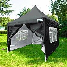 Quictent Pop-Up-Pavillon, wasserdicht, 2,5m x 2,5m, Dach mit bag-3in verschiedenen Farben, Bla, 2,5 x 2,5 m
