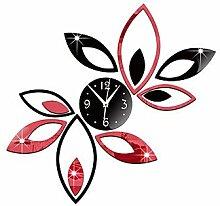 Quietness @ Acryl 3D DIY Spiegel Aufkleber Wanduhren Neuheit Home Decor Vintage Watch Wand für Wohnzimmer, 1