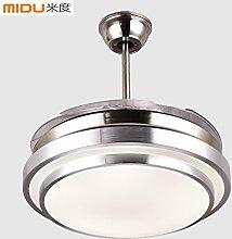 Quietness @ Anhänger Beleuchtung moderne LED-Leuchter Creative Industries Loft Hängeleuchte für Esszimmer Schlafzimmer Wohnzimmer Lager 42-Zoll-52w variable Light+Wand Steuerung