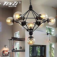 Quietness @ Moderne LED-Leuchter Creative Industries Loft Hängeleuchte für Esszimmer Schlafzimmer Wohnzimmer Lager 8 Leiter + 3 W