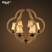 Quietness @ Moderne LED-Leuchter Creative Industries Loft Hängeleuchte für Esszimmer Schlafzimmer Wohnzimmer Lager 6 Leiter