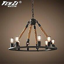 Quietness @ Moderne LED-Leuchter Creative Industries Loft Hängeleuchte für Esszimmer Schlafzimmer Wohnzimmer Lager 8+4 Leiter