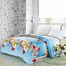 Quilt cover single piece Baumwolle und kaschmir-decke Verdicken sie Student autumn quilt cover Twin full quilt cover-J 180x220cm(71x87inch)