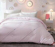 Quilt, Luxus Baumwolle Heimtextilien Light Soft Keep warm Dicker Home Individuell Doppel Winter Student Dorm Zimmer Klimaanlage Steppdecke 150 × 200cm ( Farbe : Pink , größe : 200*230cm )