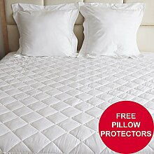 QUILTED MATTRESS PROTECTOR COVER DOUBLE ( EXTRA DEEP) by Toroga Sports