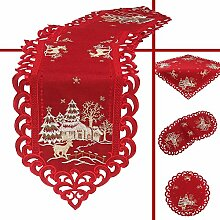 Quinnyshop Hirsch Weihnachts-Tischdecke 110 x 110