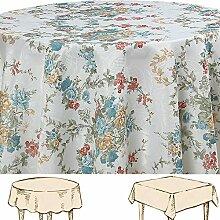 Quinnyshop Jacquard Blumen Rose Landhaus