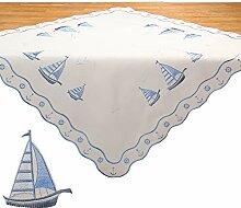 Quinnyshop Mitteldecke Tischdecke Maritime Motive