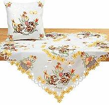 Quinnyshop Ostern Tischdecke/Tischläufer Weiß