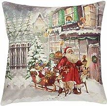 Quinnyshop Weihnachten Kissenhülle mit Fotodruck