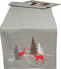 Quinnyshop Weihnachten Tischläufer Deckchen
