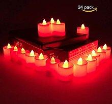 Qulista LED-Teelicht LED-Kerze, 24 x LED