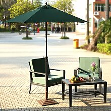 Qulista Sonnenschirm Gartenschirm Aluminium Befestigung mit Dachhaube UV Schutz wasserdicht Ampelschirm Kurbelsonnenschirm Marktschirm 223 x 228 cm (Dunkelgrün)