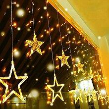Quntis 138 LEDs 2m 12 Sterne Lichterkette