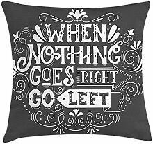 Quote Throw Pillow Cushion Cover, Inspirational