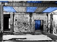 Quotes Vandalism Fotodruck in Blau East Urban Home