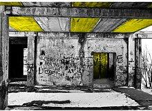 Quotes Vandalism Fotodruck in Gelb East Urban Home