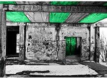 Quotes Vandalism Fotodruck in Grün East Urban