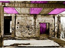 Quotes Vandalism Fotodruck in Lila East Urban Home