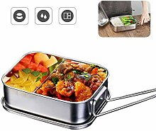 QUTAII Edelstahl Brotdose, 1200ml Lunchbox Bento