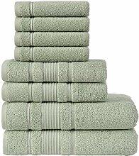 Qute Home Handtuch-Set, 2 Badetücher, 2