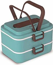 Quttin 63506 Thermo-Lunchbox, PU, Glas, sortiert,