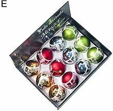 QUUY 12 STÜCKE 8 CM Weihnachtskugel, Kunststoff