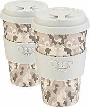 QUY CUP. Kaffeebecher aus Bambus, 400 ml,