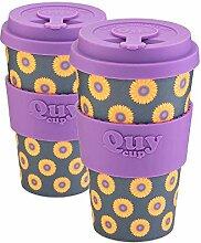QUY CUP. Sunflower Kaffeebecher aus Bambus, 400