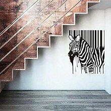 Qvzxn Dekoration Malerei Zebra Wandaufkleber