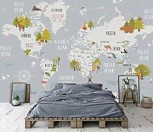 QVZXN Kinderkarte Der Welt Kinderzimmer Tapete
