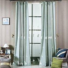 QWASFCDS Gardinen,Einfachen Kinder Zimmer grüne