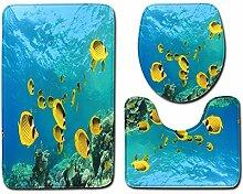 QWER 3 Sätze Badematten Badematte