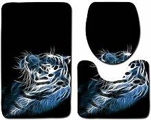 QWER 3 Sätze Badematten Tiger Badematte Für