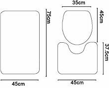 QWER 3 Sätze Badematten Wc Fußmatten Badematte