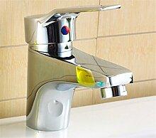 Qwer Alle Kupfer einzelne Single Loch heiße und kalte Waschbecken Armatur Spüle Schneiden Wasserhahn Sitzbank Masse unter Waschbecken Armatur Küchenarmatur