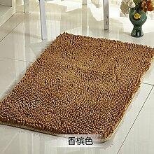 Qwer Chenille matten Fußmatte mit dem saugfüße Bad Rutschfeste Matte Schlafzimmer Bett Matratze, 140 * 200 cm, Champagner Farbe Teppiche