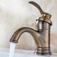 Qwer Continental antike Teekanne Hähne um die Kupfer Kleine kreative Mischbatterien Bad Waschbecken Wasserhahn Wasserhahn