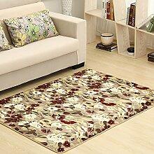Qwer Coral Matten dicke Wohnzimmer Couchtisch matten Schlafzimmer Bett Grenze Folie Füße, 120*200, idyllischen Teppiche