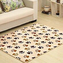 Qwer Coral Matten dicke Wohnzimmer Couchtisch matten Schlafzimmer Bett Grenze Folie Füße, 160*200, Fuß Teppiche